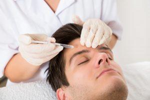 male getting botox