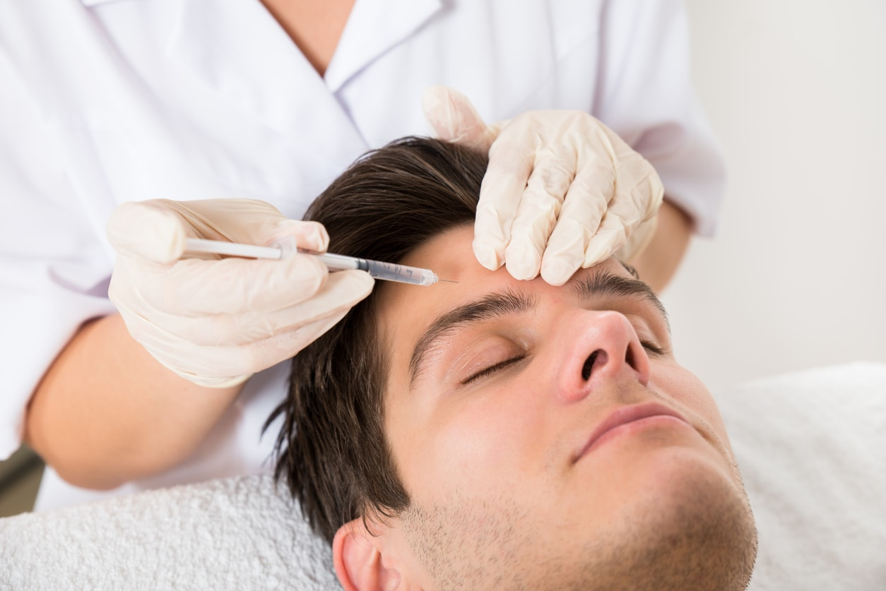 male getting botox